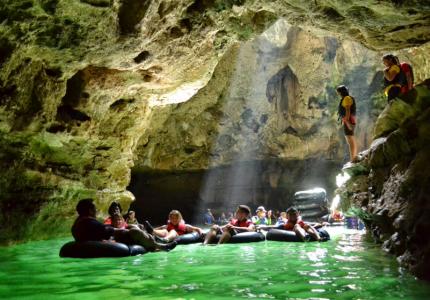 Pindul Cave Tubing and Timang Beach